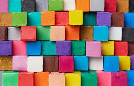 Colorful Plastiline background closeup detail