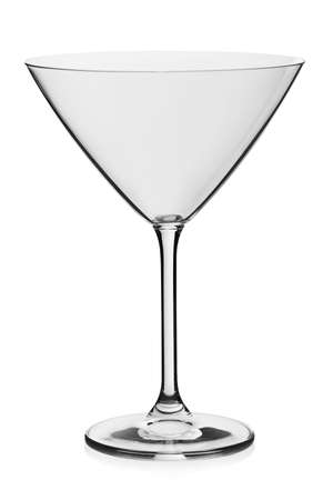 Cocktail empty glass on white background