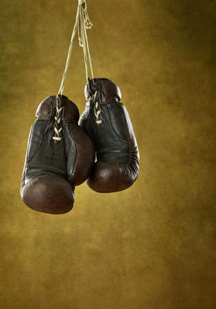 Boxing gloves hanging on a wall 免版税图像