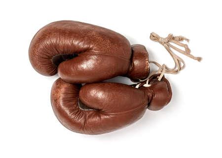 Boxing gloves on white background 免版税图像