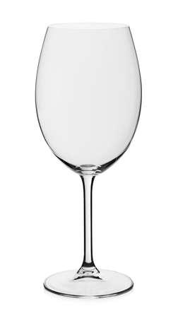 Wine empty glass on white background 免版税图像