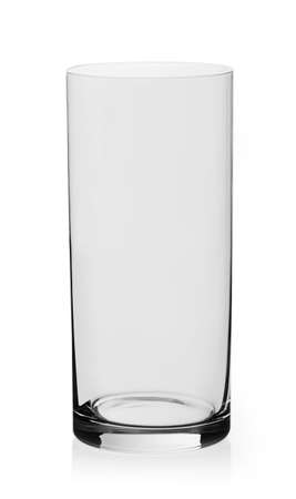 Water empty glass on white background