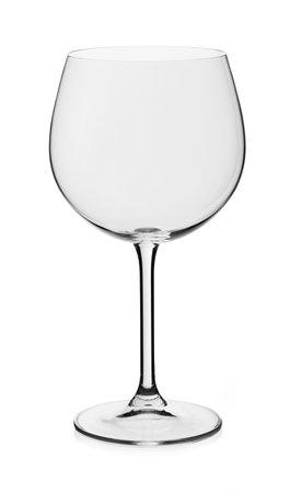 Red wine empty glass on white background 免版税图像