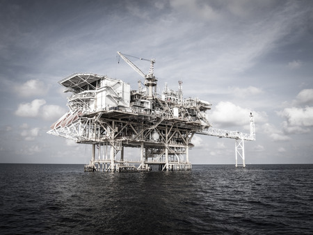 Offshore production platform in the sea for oil and gas production. Reklamní fotografie