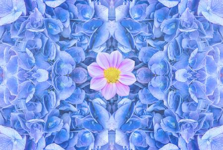 blue flowers background. Reklamní fotografie