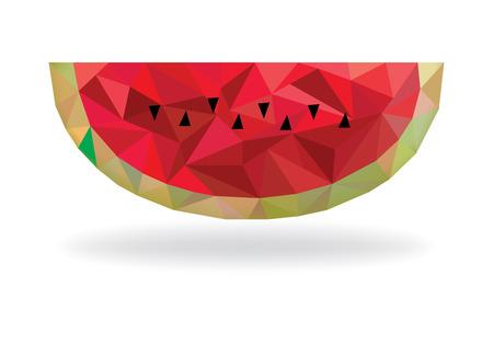 Polygonal watermelon design Ilustrace