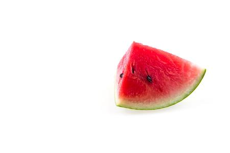 Slice of watermelon on white background. Reklamní fotografie