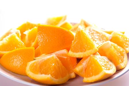 orange fruit slice isolated Reklamní fotografie