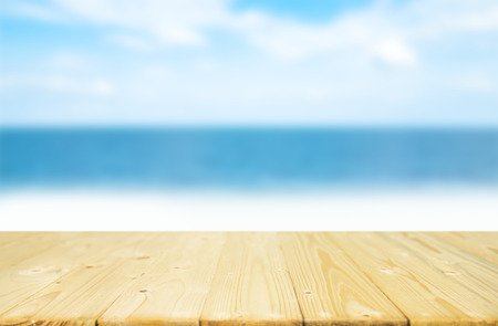 summer desk sea and sky of blue,can be used for display or montage your products.