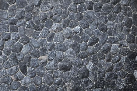black granite: black stone texture Stock Photo
