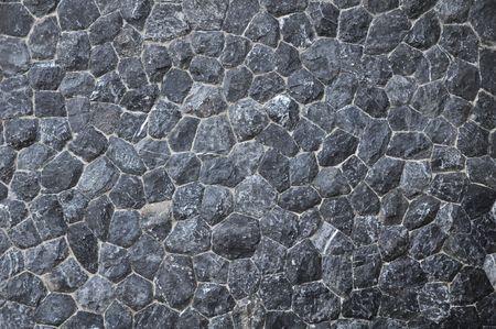 zwarte steen textuur  Stockfoto