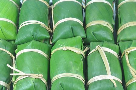 raw thai tradition dessert Stock Photo