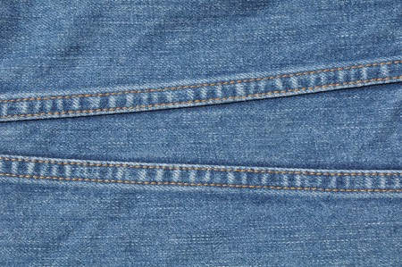 two line on blue jean shirt Stock Photo