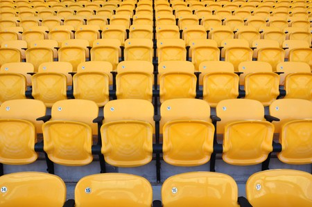 yellow seat in arena