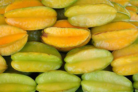 Starfruit achtergrond  Stockfoto