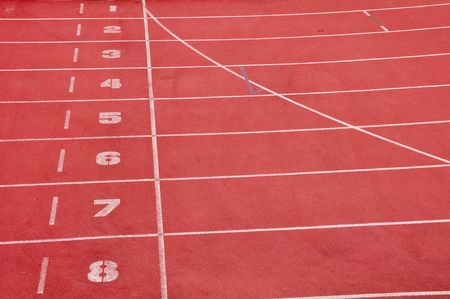 running lane in red color photo