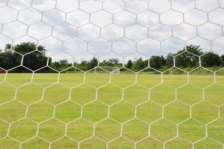 behind Football goal Stock Photo - 7452008