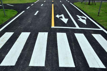 Zebra manier op het weg dek