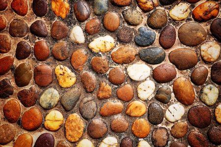 Round stone floor photo