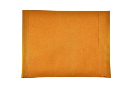 Brown envelop with white background isolate photo