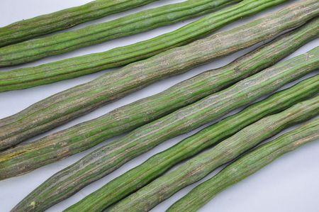 Raw moringa green color photo