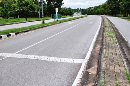 Arrow on road surface Stock Photo - 7789177
