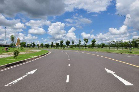 Pijl verkeers teken op de weg