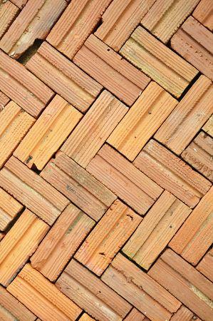 Brick floor pattern background photo