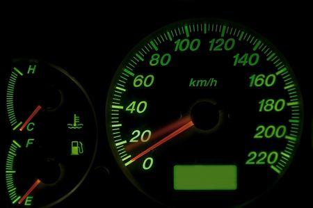 Speed meter as black background photo