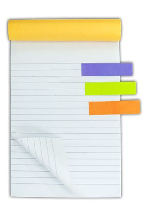Blank notebook and post it Stock Photo - 7992348