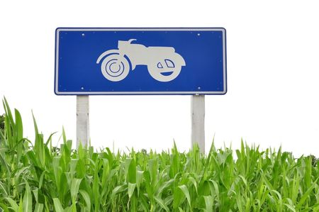 Bike logo and grass as white isolate background Stock Photo - 7992355