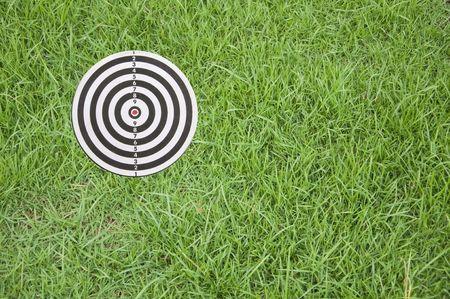 Richten op groen gras