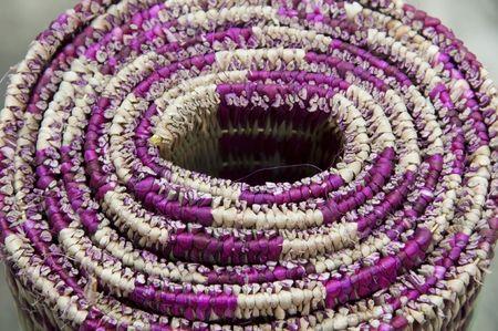 handmade mat roll section view photo