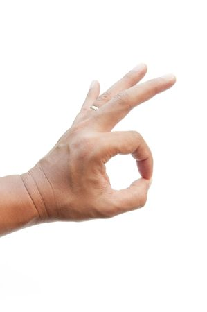 hand as white background photo