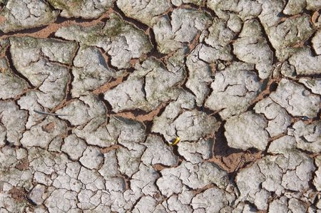 Clay dry broken Stock Photo - 8137955