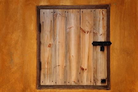 houten raam als kleur wand Stockfoto