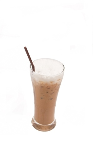 ice capuccino coffee as white isolate background