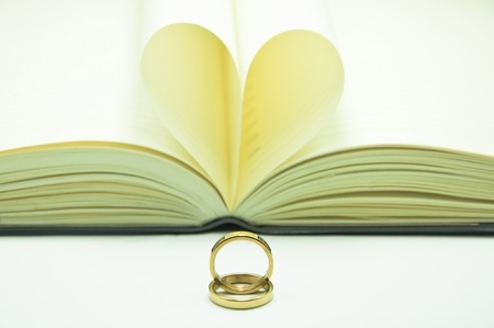 ring and notebook heart photo