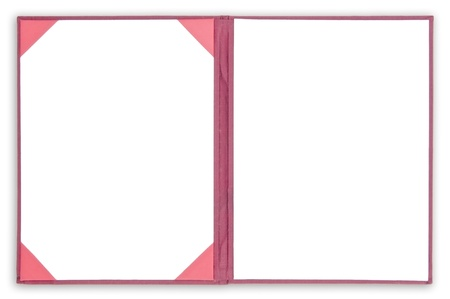 Book two page open as white isolate background Stock Photo - 8888389
