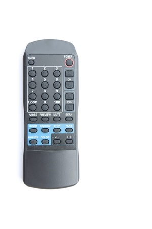 Electronic remote control as white isolate background photo