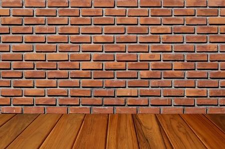wooden floor and brickwall room Stock Photo - 9499502