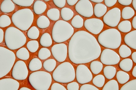 White stone free form tile background Stock Photo - 9499500