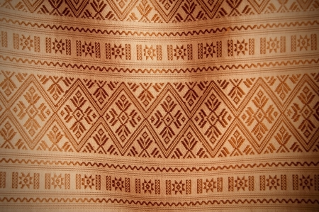 Thai style hand made silk graphic texture background photo