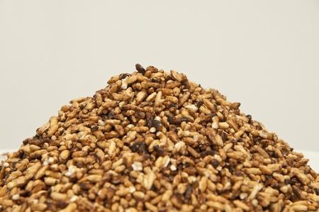 Dry fried rice background photo