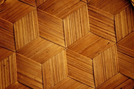 Bamboo wooden texture hexagon shape style background
