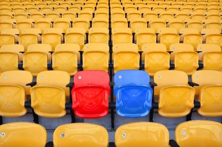 stadium color seat in stadium photo