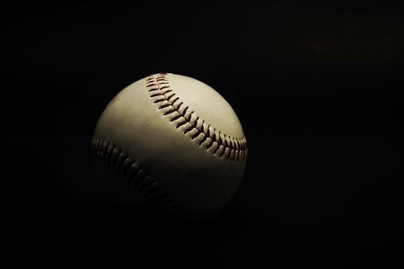 base ball in black color background Stock Photo