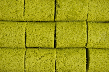 green color roll cake background photo