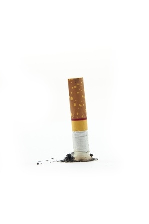 no smoking cigarette as white isolate background photo