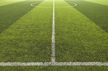 Green color Soccer field photo